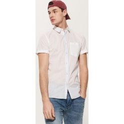 Bawełniana koszula - Biały. Szare koszule męskie marki House, l, z bawełny. W wyprzedaży za 39,99 zł.