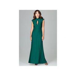 Sukienka K486 Zielony. Szare długie sukienki marki Lenitif, l. Za 179,00 zł.