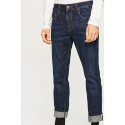 Jeansy slim fit - Selvedge Denim - Niebieski. Niebieskie jeansy męskie relaxed fit Reserved. Za 169,99 zł.