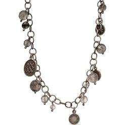 Naszyjniki damskie: Srebrny naszyjnik z kwarcami – (D)42 cm