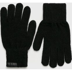 Trussardi Jeans - Rękawiczki. Czarne rękawiczki męskie Trussardi Jeans, z dzianiny. Za 149,90 zł.