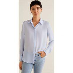 Mango - Koszula Basic. Szare koszule wiązane damskie Mango, l, z materiału, klasyczne, z klasycznym kołnierzykiem, z długim rękawem. Za 89,90 zł.