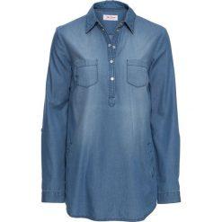 Tunika dżinsowa, długi rękaw bonprix niebieski. Niebieskie tuniki damskie z długim rękawem bonprix. Za 74,99 zł.
