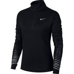 Bluza do biegania damska NIKE DRY FLASH ELEMENT HALF ZIP / 856608-010. Czarne bluzy rozpinane damskie Nike. Za 179,00 zł.