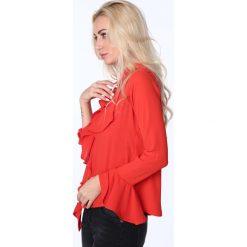 Koszula z falbanami czerwona MP26007. Czerwone koszule damskie Fasardi, l. Za 63,20 zł.