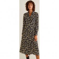 Mango - Sukienka Audrey. Szare długie sukienki marki Mango, na co dzień, l, z tkaniny, casualowe, z dekoltem halter, na ramiączkach, rozkloszowane. Za 199,90 zł.