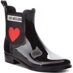 Kalosze LOVE MOSCHINO - JA21013G16IJ0000  Nero. Szare buty zimowe damskie marki Love Moschino, z materiału. Za 479,00 zł.