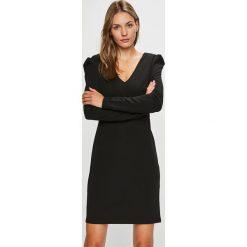 Morgan - Sukienka. Czarne długie sukienki marki Morgan, na co dzień, z elastanu, casualowe, z długim rękawem, dopasowane. Za 239,90 zł.