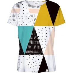 Colour Pleasure Koszulka damska CP-030 22 biało-czarna r. XXXL/XXXXL. Białe bluzki damskie Colour pleasure. Za 70,35 zł.