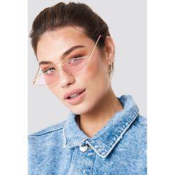 NA-KD Accessories Okulary przeciwsłoneczne z mostkiem - Pink. Szare okulary przeciwsłoneczne damskie lenonki marki ORAO. Za 52,95 zł.