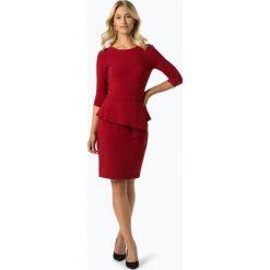Paradi - Sukienka damska, czerwony. Białe sukienki balowe marki BIALCON, na imprezę, w koronkowe wzory, z koronki, z kopertowym dekoltem, midi, kopertowe. Za 249,95 zł.