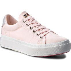 Sneakersy NAPAPIJRI - Astrid 16738581 Pale Pink N52. Szare sneakersy damskie marki Napapijri, z dzianiny. W wyprzedaży za 189,00 zł.