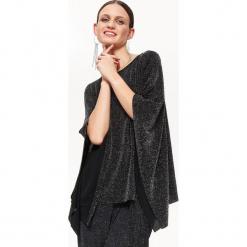 IMPREZOWA BLUZKA Z POŁYSKIEM, OVERSIZE. Czarne bluzki oversize Top Secret, eleganckie. Za 89,99 zł.