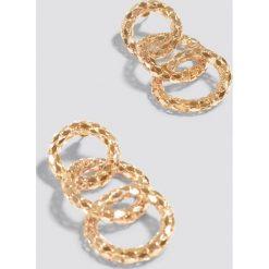Kolczyki damskie: NA-KD Accessories Łączone kolczyki – Gold