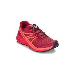Buty do biegania Salomon  SENSE RIDE W. Czarne buty do biegania damskie marki Salomon, z gore-texu, na sznurówki, gore-tex. Za 495,20 zł.