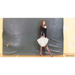 Shelly bag torba miętowa na ramię jasnozielona. Zielone torebki klasyczne damskie Pakamera, w paski. Za 165,00 zł.