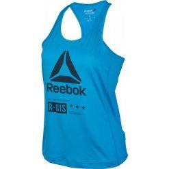 Reebok Koszulka damska treningowa One Series Activchill Graphic W niebieska r. L (AX8688). Szare topy sportowe damskie marki Reebok, l, z dzianiny, z okrągłym kołnierzem. Za 82,59 zł.