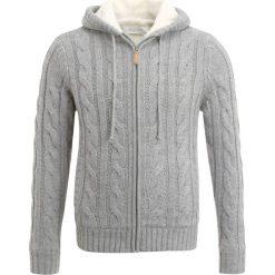 Swetry rozpinane męskie: Pier One SHERPA LINED Kardigan grey melange