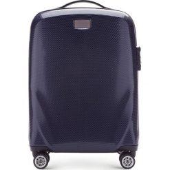 Walizka mała 56-3P-571-90. Niebieskie walizki marki Wittchen, z gumy, małe. Za 329,00 zł.