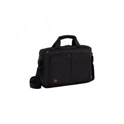 """Torba na laptopa Wenger Source 14"""", czarna 601064. Czarne torby na laptopa marki Wenger, w paski. Za 195,75 zł."""