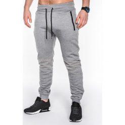 Spodnie męskie: SPODNIE MĘSKIE DRESOWE P465 – SZARE