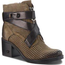 Botki CARINII - B4441 I43-E50-000-861. Zielone buty zimowe damskie Carinii, z nubiku, na obcasie. W wyprzedaży za 279,00 zł.