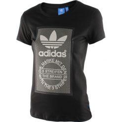 Koszulka sportowa damska ADIDAS SLIM TEE / AY6679. Szare bluzki sportowe damskie marki adidas Originals, na co dzień, z nadrukiem, z bawełny, casualowe, z okrągłym kołnierzem, proste. Za 75,00 zł.