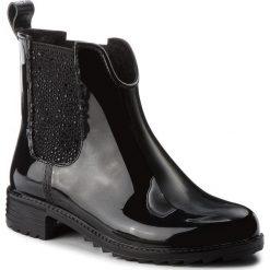 Kalosze RIEKER - P8280-03 Schwarz. Czarne buty zimowe damskie marki Kazar, ze skóry, na wysokim obcasie, na sznurówki. Za 199,00 zł.
