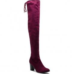 Muszkieterki CAPRICE - 9-25504-21 Bordeaux Stre. 544. Czerwone buty zimowe damskie Caprice, z materiału, przed kolano, na wysokim obcasie, na obcasie. W wyprzedaży za 189,00 zł.