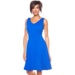 """Sukienki hiszpanki: Sukienka """"Ninon"""" w kolorze niebieskim"""