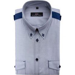 Koszula MATTEO D 15-05-33-K. Niebieskie koszule męskie na spinki Giacomo Conti, m, z bawełny, button down. Za 149,00 zł.
