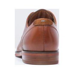 ALDO RICMANN Eleganckie buty cognac. Brązowe buty wizytowe męskie marki ALDO, z materiału, na sznurówki. Za 399,00 zł.