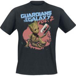 T-shirty męskie z nadrukiem: Guardians Of The Galaxy 2 – Groot Tape T-Shirt czarny