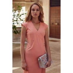 Sukienka bez rękawów s068. Brązowe sukienki balowe marki Style, s, z materiału, bez rękawów, dopasowane. W wyprzedaży za 109,00 zł.