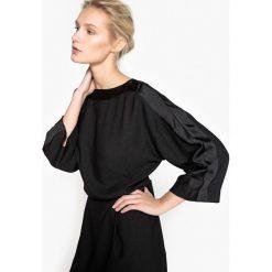Długie sukienki: Gładka, rozszerzana sukienka z gumką w pasie