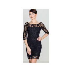 Sukienka K109 Czarny. Czarne sukienki koronkowe marki Lenitif, l. Za 129,00 zł.