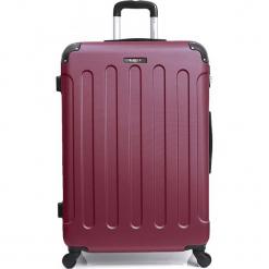 """Walizka """"Madrid"""" w kolorze bordowym - 68 x 46 x 28 cm. Czerwone walizki Hero & BlueStar, z materiału. W wyprzedaży za 260,95 zł."""