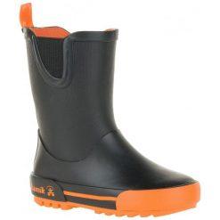Kamik Kalosze Rainplay Black & Orange 33. Czarne kalosze chłopięce marki Kamik. W wyprzedaży za 119,00 zł.