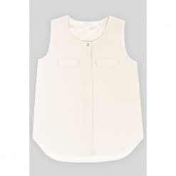 Bluzka jedwabna w kolorze białym. Białe bluzki nietoperze Ateliers de la Maille, z jedwabiu, z okrągłym kołnierzem. W wyprzedaży za 227,95 zł.