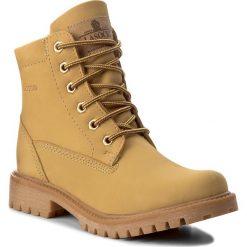 Trapery LASOCKI - WI20-ASPEN-02 Miodowy. Żółte buty zimowe damskie Lasocki, z nubiku. Za 199,99 zł.