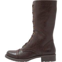 Anna Field Kozaki sznurowane dark brown. Brązowe buty zimowe damskie marki Anna Field, z materiału. W wyprzedaży za 152,10 zł.