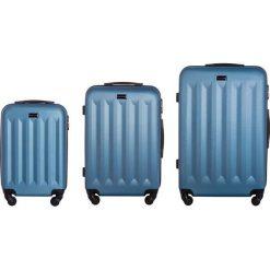 Zestaw walizek Benelux 20/24/28 Mała/Średnia/Duża niebieskie. Niebieskie walizki marki VIP COLLECTION, duże. Za 794,42 zł.