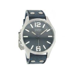 Zegarek OOZOO Steel OS059 black/white. Niebieskie, analogowe zegarki męskie Moderntime, srebrne. Za 379,00 zł.