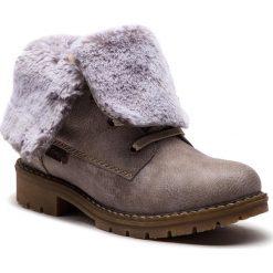 Trapery RIEKER - Y9122-42 Grau Kombi. Czarne buty zimowe damskie marki Rieker, z materiału. Za 299,00 zł.