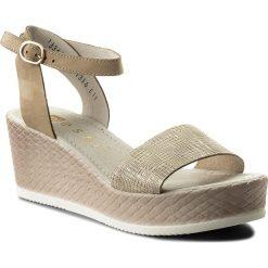 Sandały damskie: Sandały NESSI – 18366 Beż 111/St