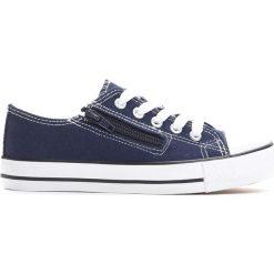Granatowe Trampki Made Off. Niebieskie buty sportowe chłopięce Born2be, z materiału, z okrągłym noskiem, na zamek. Za 29,99 zł.