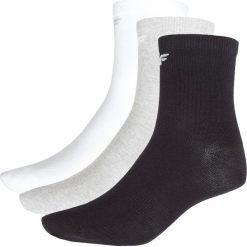 Skarpetki męskie: Skarpetki treningowe dla małych chłopców (3 pary) JSOM300Z – biały+szary+czarny