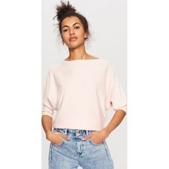 Sweter z zabudowanym dekoltem - Różowy. Białe swetry klasyczne damskie marki Reserved, l, z dzianiny. Za 59,99 zł.