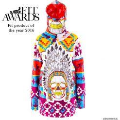 Navajo bluza damska z kapturem i wymienną maską. Szare bluzy rozpinane damskie Pakamera, na zimę, z softshellu, z kapturem. Za 359,00 zł.