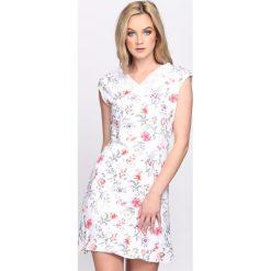 Sukienki: Biało-Różowa Sukienka Admiration